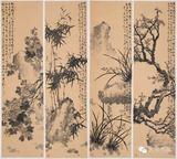 中国画《四君子》作者:宋海雄